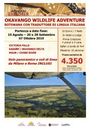 Okavango Wildlife Adventure in Italiano