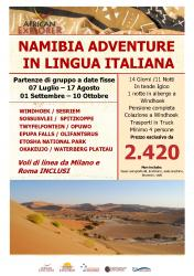Namibia Adventure in Lingua Italiana