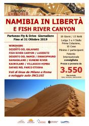 Namibia in Libertà e Fish River Canyon