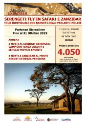 Serengeti Fly in Safari e Zanzibar